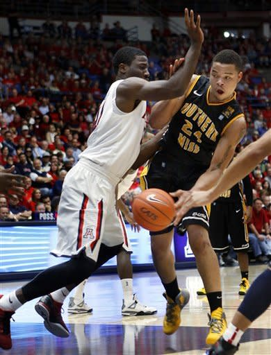 No. 8 Arizona holds off Southern Miss 63-55