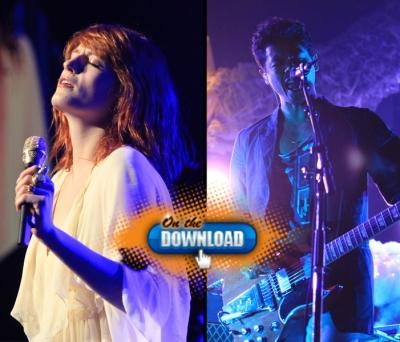 Florence Welch of Florence and The Machine (left) and Dougy Mandagi of The Temper Trap (right), at KROQ's Almost Acoustic Christmas Night 2, Gibson Amphitheatre, LA, Dec. 12, 2010 -- Access Hollywood