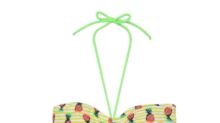 This product image released by OP shows a pineapple print bikini. (AP Photo/OP)