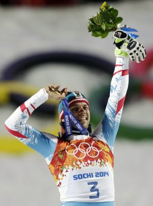 Matt, 34, wins Olympic slalom; oldest Alpine champ