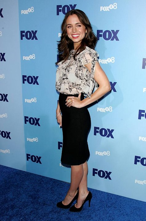 Eliza Dushku arrives at the 2008 FOX UpFront at Wollman Rink, Central Park on May 15, 2008 in New York City.