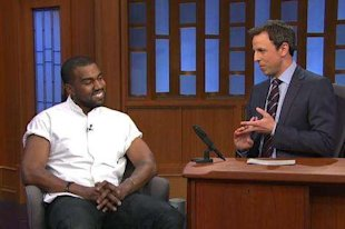 Kanye West and Seth Meyers