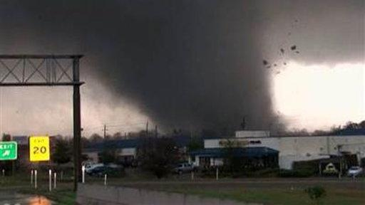 Huge Tornado Tears Across Hattiesburg