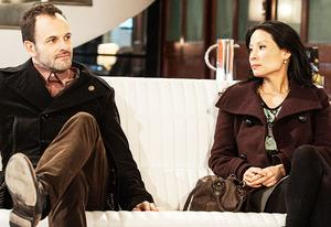 Jonny Lee Miller and Lucy Liu | Photo Credits: Jojo Whiden/CBS