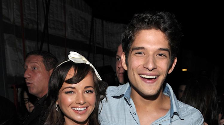IMAGE DISTRIBUTED FOR MTV - Actors Ashley Rickards and Tyler Posey pose backstage at the MTV Movie Awards in Sony Pictures Studio Lot in Culver City, Calif., on Sunday April 14, 2013. (Photo by John Shearer/Invision for MTV/AP Images)