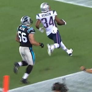New England Patriots running back Shane Vereen 40-yard touchdown reception