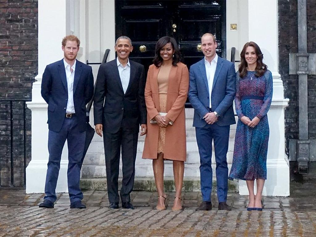 'Boom!' Watch the Queen and Prince Harry Hilariously Drop the Mic on President Obama and the First Lady