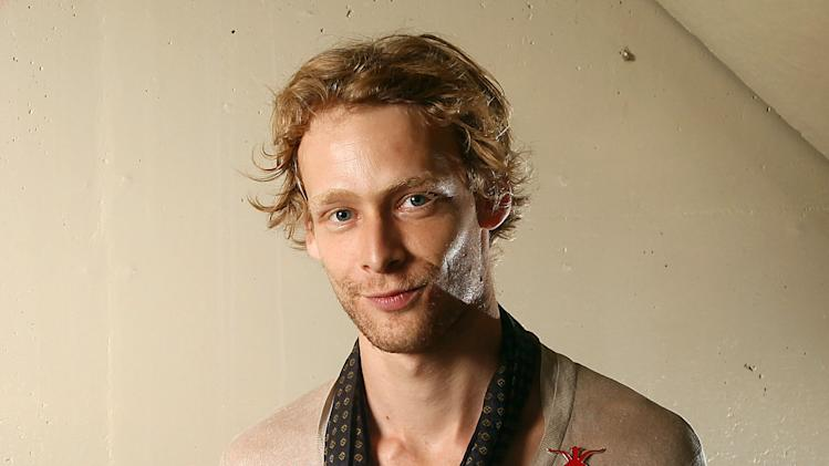 FILE - This Sept. 14, 2011 file photo shows actor Johnny Lewis posing for a portrait during the 36th Toronto International Film Festival in Toronto, Canada. An autopsy report released Thursday Nov. 29, 2012 found no traces of drugs in Lewis' body after he apparently killed his landlady and fell to his death in September.  (AP Photo/Carlo Allegri, file)