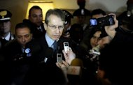 An Italian hostage kidnapped by Al-Qaeda in the Islamic Maghreb in February last year in southern Algeria was released on Tuesday and is in a hotel in Burkina Faso, Foreign Minister Giulio Terzi, pictured in February 2012, said