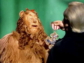 The Cowardly Lion ( Bert Lahr ) in Warner Home Entertainment's DVD release of The Wizard of Oz