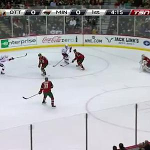 Devan Dubnyk Save on Kyle Turris (15:52/1st)