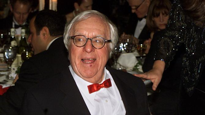 "FILE - This Nov. 15, 2000 file photo shows science fiction writer Ray Bradbury at the National Book Awards in New York. Two pieces released this fall were written late in life by the science fiction/fantasy master, who died in June at age 91. Bradbury contributed ""The Book and the Butterfly,"" an introduction to this year's edition of ""The Best American Nonrequired Reading."" And he conceived a stark encounter between a young boy and a man he believes is Santa Claus in ""Dear Santa,"" which appears in the holiday issue of Strand Magazine, based in Birmingham, Mich.  (AP Photo/Mark Lennihan, file)"