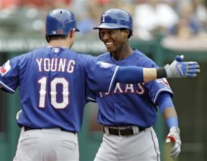 At 19, Profar HRs 1st time up, Texas beats Indians