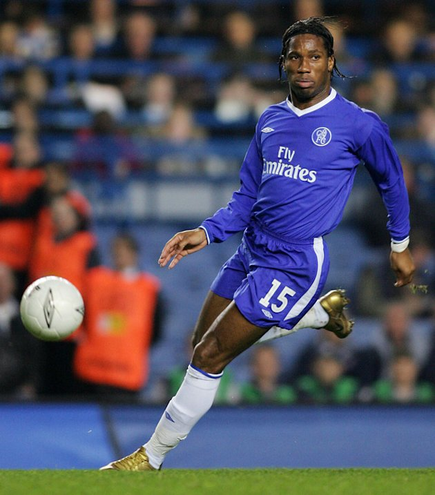  Chelsea's Didier Drogba Kicking The Ball AFP/Getty Images