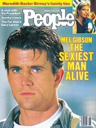 Mel Gibson on the cover of People in 1985.