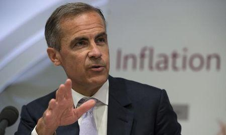 Bank of England Governor Mark Carney speaks during an inflation report news conference at the Bank of England in London