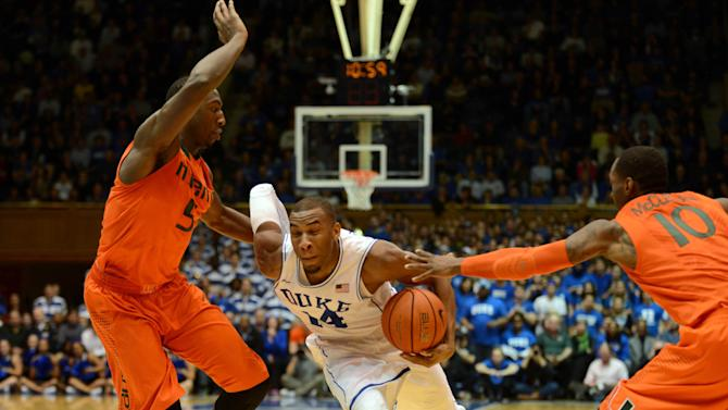 NCAA Basketball: Miami at Duke