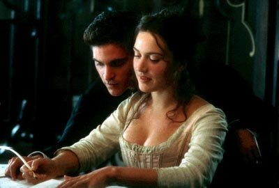 Joaquin Phoenix as Abbe Coulmier and Kate Winslet as Madeleine in Fox Searchlight's Quills