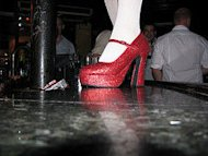 red stilettos heels