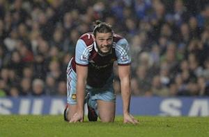 West Ham United's Carroll reacts during their English Premier League soccer match against Chelsea at Stamford Bridge in London