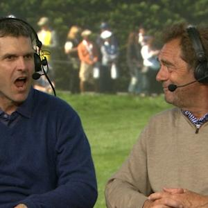 Harbaugh, Lewis and Eastwood interview during Round 3 of AT&T Pebble Beach