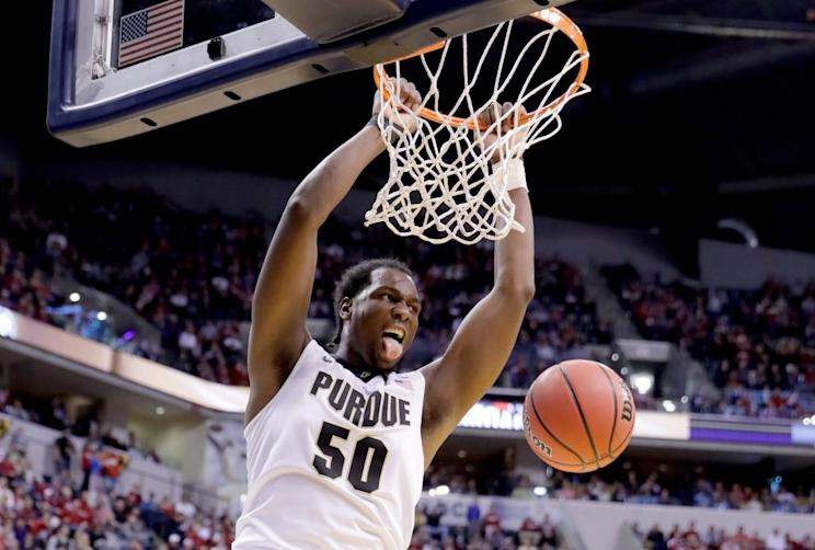 All-American Caleb Swanigan has five days to decide whether to return to Purdue or not. (Getty)
