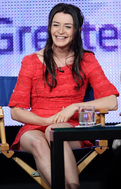 "Caterina Scorsone of the television show ""Alice"" speaks during the NBC Universal Network portion of the 2009 Summer Television Critics Association Press Tour at The Langham Huntington Hotel & Spa on A"