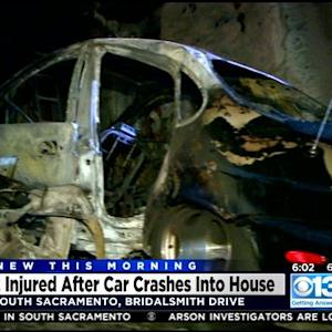 2 People Injured After Car Hits South Sacramento Home