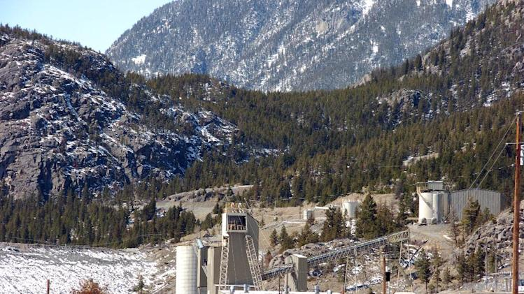 This photo shows the Stillwater Mining Company, the only platinum and palladium mine in the United States near Nye, Mont. A group of dissident investors including former Montana Gov. Brian Schweitzer were given four seats on the company's board by shareholders after saying the company's future was threatened by its pursuit of foreign mining ventures. (AP Photo/Matthew Brown)