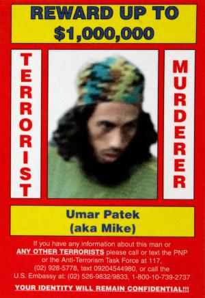 In this undated poster released by Philippine National Police and the US Rewards For Justice Program, shows Umar Patek.  Intelligence sources say top Indonesian terror suspect Umar Patek has been arrested in Pakistan. Patek is one of the main suspects in the 2002 Bali bombings that left 202 people dead. (AP Photo/ Philippine National Police and the US Rewards For Justice Program)