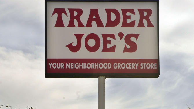 FILE - In this Feb. 11, 2008 file photo, a customer departs Trader Joe's in Los Angeles. The grocery store chain Trader Joe's is recalling peanut butter that has been linked to 29 salmonella illnesses in 18 states, Saturday, Sept. 22, 2012 (AP Photos/Ric Francis, File)