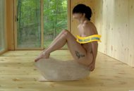 Lady Gaga seen naked in a video posted on Vimeo, titled 'The Abramovic Method Practiced by Lady Gaga' -- Vimeo