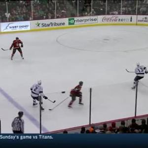 Niklas Backstrom Save on Brayden McNabb (10:58/3rd)