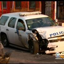 Philadelphia Police Officer Escapes With Minor Injuries After Crash In North Philadelphia