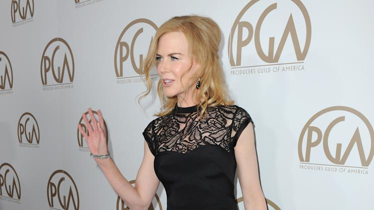 Nicole Kidman arrives at the 24th Annual Producers Guild (PGA) Awards at the Beverly Hilton Hotel on Saturday Jan. 26, 2013, in Beverly Hills, Calif. (Photo by Jordan Strauss/Invision for The Producers Guild/AP Images)