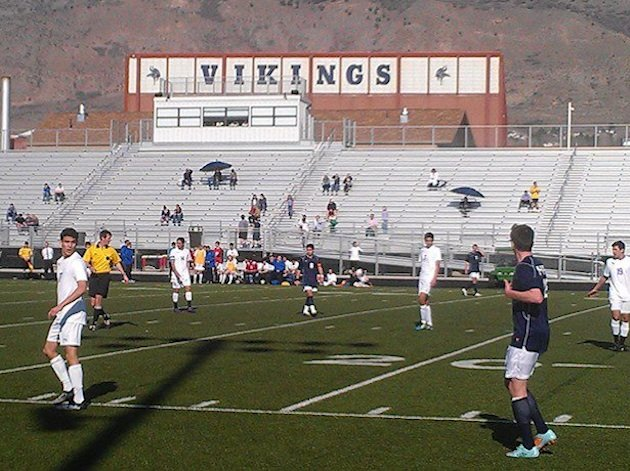 The Pleasant Grove soccer team in action — Facebook