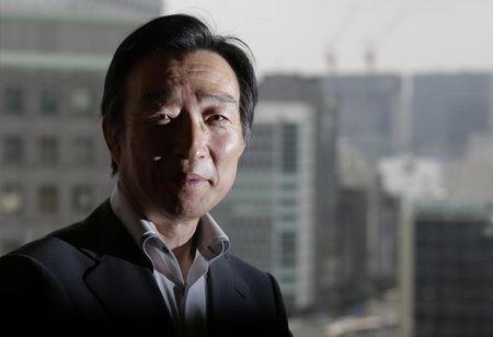 BOJ Deputy Governor Iwata poses for a photo after an interview with Reuters at the BOJ headquarters in Tokyo