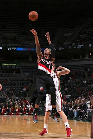 Trail Blazers beat Bucks 91-82, win 8th straight