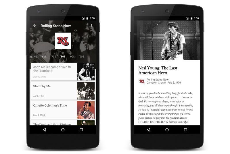 Rolling Stone opens its archives on Google Play Newsstand
