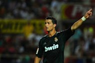 Real Madrid's Cristiano Ronaldo during their Spanish league match against Sevilla on September 15. It is a test of the mettle of their coach Jose Mourinho as to how he picks his side up from the disappointment of their defeat at Sevilla for Tuesday's Champions League opener with Manchester City