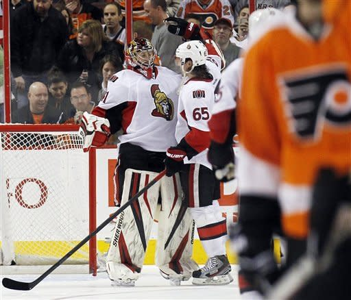 Senators salvage 4-3 win over Flyers in shootout
