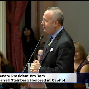 Senate President Pro Tem Darrell Steinberg Honored At Capitol