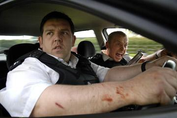 Nick Frost and Simon Pegg in Rogue Pictures' Hot Fuzz