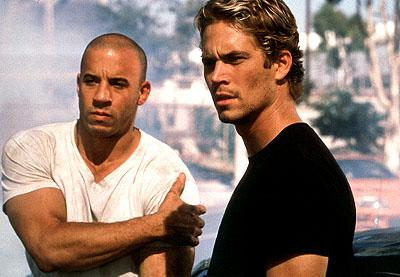 Vin Diesel and Paul Walker in Universal's The Fast and The Furious