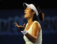 China's fiery tennis superstar Li Na, shown here in Melbourne in 2011, heads into next week's US Open eyeing a second Grand Slam crown but with questions over her temperament mounting in Chinese media after two furious outbursts