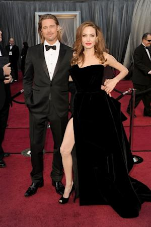 Brad Pitt and Angelina Jolie arrive at the 84th Annual Academy Awards held at the Hollywood & Highland Center in Hollywood on February 26, 2012 -- Getty Images