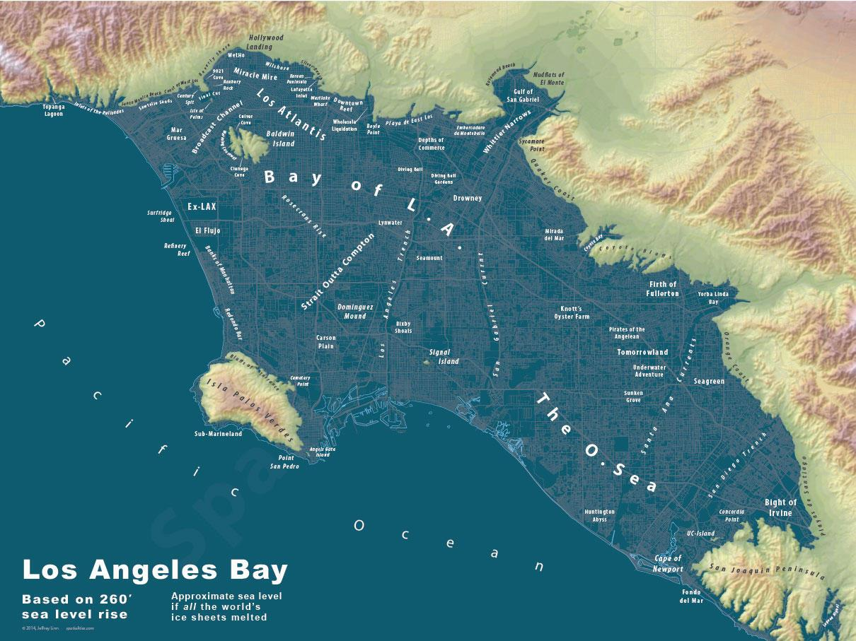 Welcome to Los Atlantis: Whimsical maps imagine a post-flood Earth