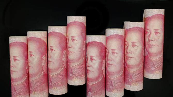 100 Yuan notes are seen in this illustration picture in Beijing