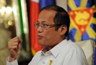 Philippine President Benigno Aquino speaks during an interview with AFP at Malacanang Palace in Manila. The Philippine government intends to impose far heavier taxes and tougher environmental restrictions on the mining industry, President Benigno Aquino told AFP