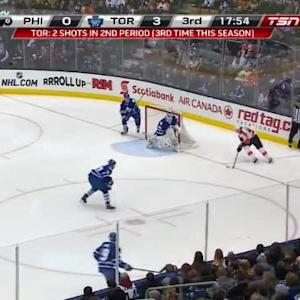 Jonathan Bernier Save on Jakub Voracek (02:11/3rd)